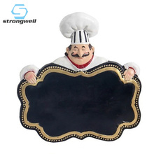 Strongwell Chef Hanging Message Board Wall Blackboard Cafe Restaurant Decoration Home Accessories