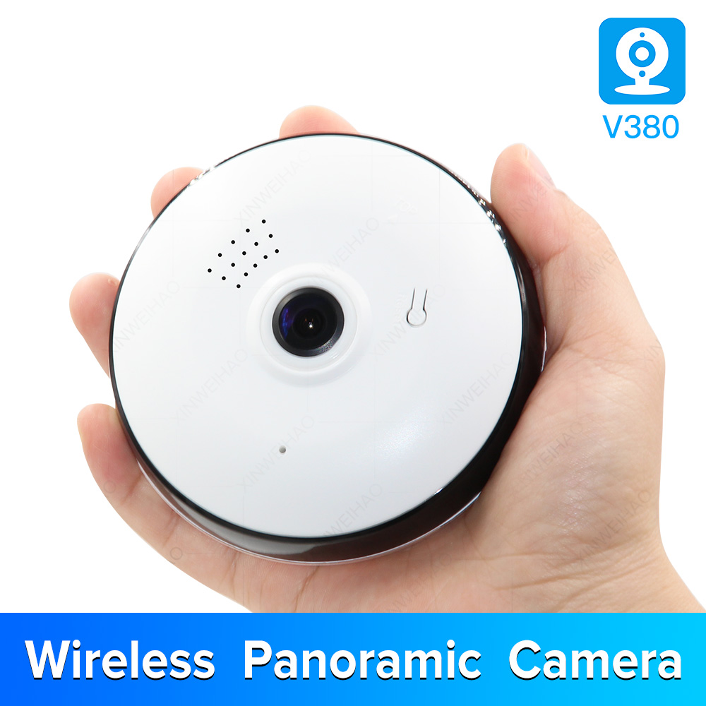 1.3MP/2.0MP Full view WIFI 360 Degree Two way audio Panoramic 960P/1080P Fisheye Wireless Smart IP Camera V380 white color image