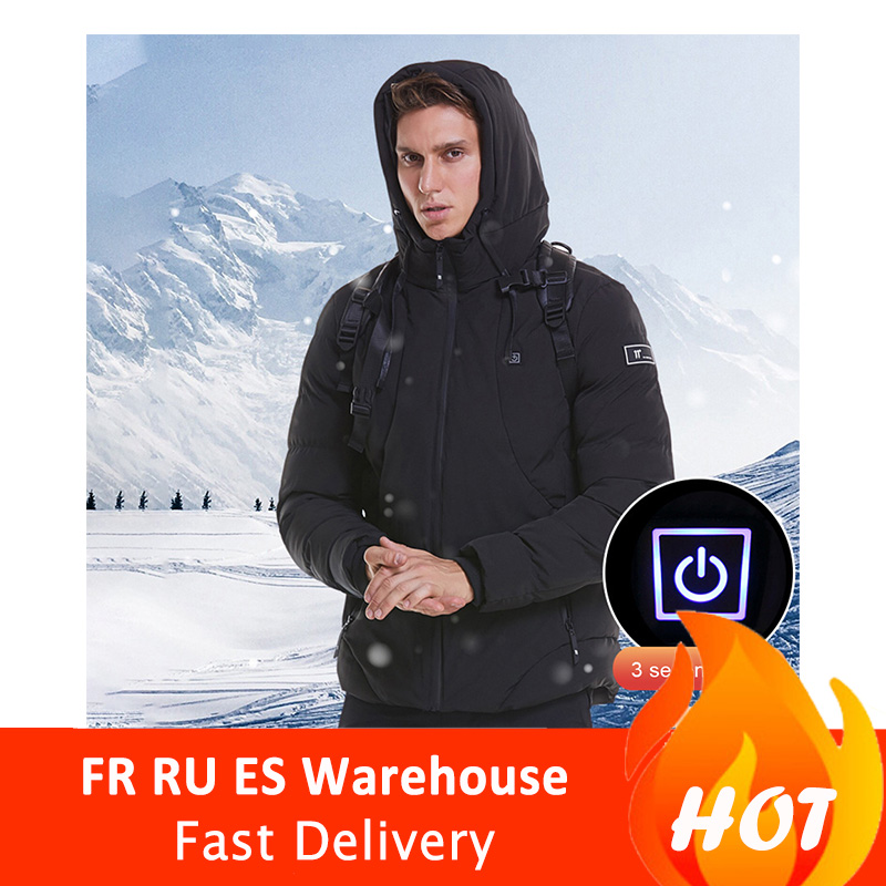 Winter Warm USB Charging And Heating Cotton Coat Electric Heating Male Father Intelligent Heating Cotton Clothes