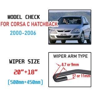 Image 2 - Opel Corsa C Hatchback 2000 2001 2002 2003 2004 2005 2006 액세서리 자동차 앞 유리 윈드 쉴드 와이퍼 블레이드 U J 후크