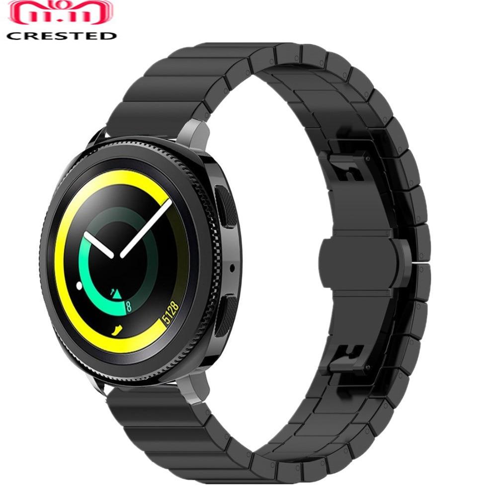 Galaxy watch active Strap For Samsung Gear sport Galaxy watch 42mm S2 20mm watch band stainless steel correa bracelet   Watchbands