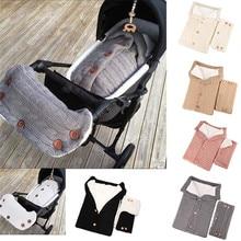 Stroller Sleeping Bag Baby Blanket Sleep Sack Footmuff Knitting Envelope Newborn Swadding  Accessories Wrap
