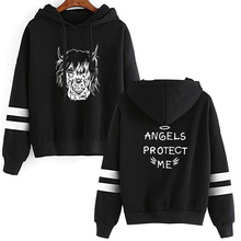 ANGELS PROTECT ME Hoodies Men Sweatshirt Hip Hop Hooded Print ANGELS PROTECT ME Hoodies 2019 Male Sweatshirts