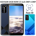 4 ядра 9C спереди/сзади Камера Face ID 4G Оперативная память 64G Встроенная память 5MP + 13MP 5,5 дюймов смартфоны мобильные телефоны, Wi-Fi, глобальная вер...