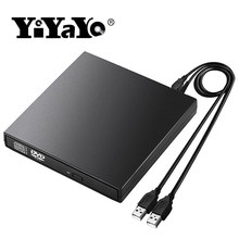 YiYaYo Externe DVD Optisches Laufwerk USB 2,0 CD ROM Player CD-RW Brenner Schriftsteller Reader Recorder Portatil für Laptop Windows PC(China)