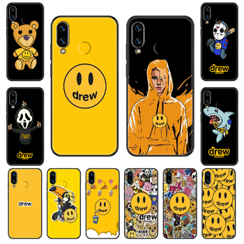 Drew Justin Bieber Phone case For Huawei Honor Mate 5 7 8 9 10 20 i A X Lite Pro black fashion prime silicone shell 3D image