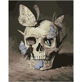 Deaths Head Hawk Moth Skull Adult Paint By Numbers Kit