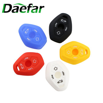 Daefar Silicone Car Key Case For BMW X3 X5 Z3 Z4 3 5 7 Series E38 E39 E46 E83 1998 - 2005 Cover Keyless Remote Fob 4 Button image
