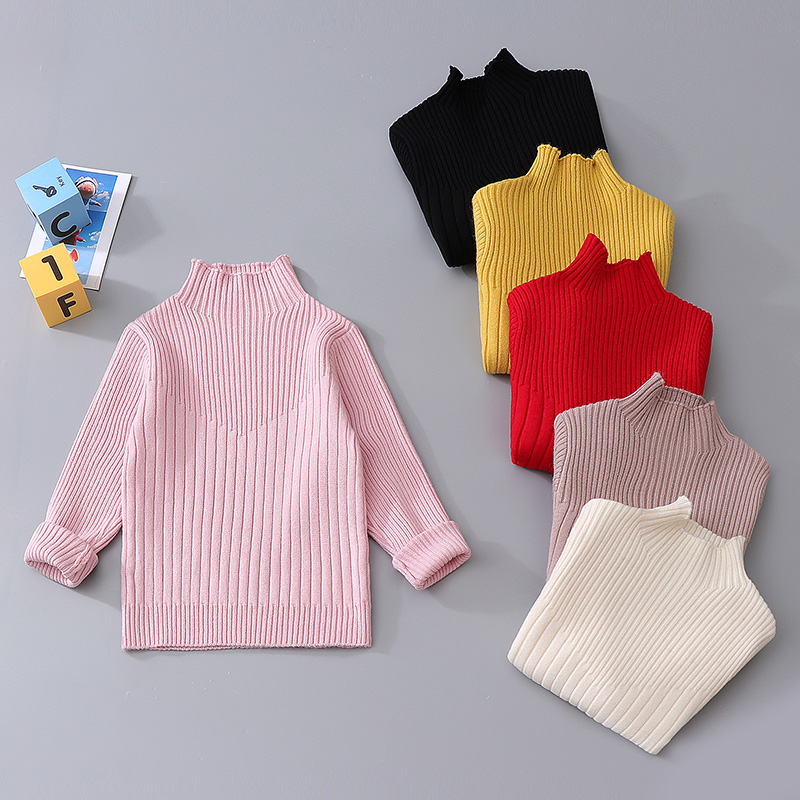 Baby Girl Sweaters 2020 Spring Autumn toddler Turtleneck Knitted Sweater Kids Clothes for Girls teen Clothing <font><b>2</b></font> <font><b>5</b></font> 8 10 <font><b>12</b></font> 13Year image