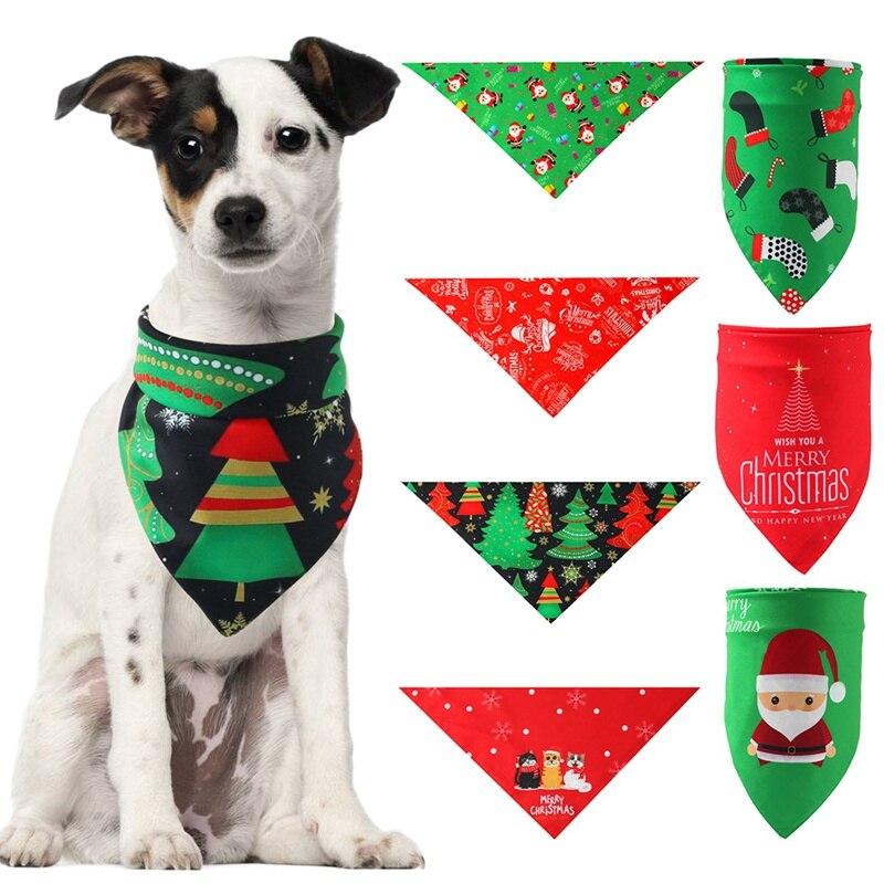 Pet Fashion Washable Scarf Handkerchiefs Bibs Grooming Accessories Christmas Dog Bandana