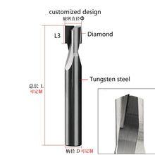 Алмазный алюминиевый Фрезерный резак с хвостовиком 4 мм 6 pcd