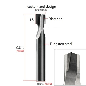 Image 4 - Elmas cnc freze kesicisi akrilik levha PCD taş makinesi araçları karbür Shank torna end freze PVC grafit mermer