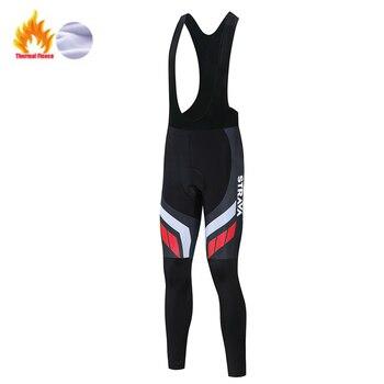 STRAVA-Pantalones largos térmicos para ciclismo, para hombre, para invierno