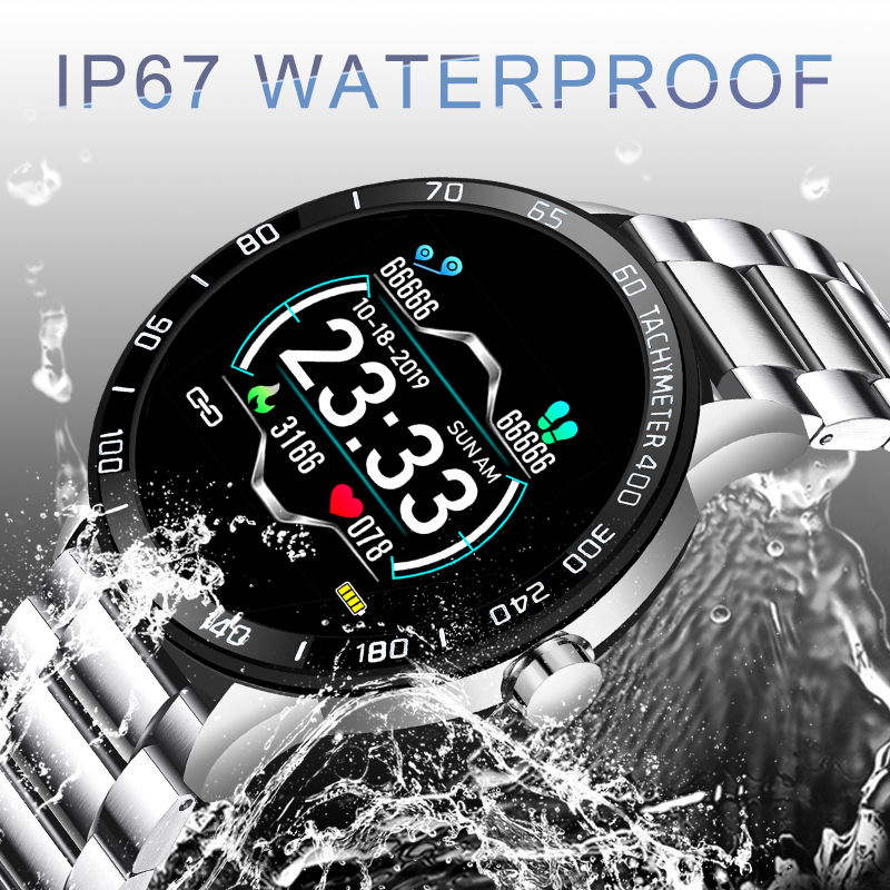 lowest price LIGE Smart Watch Men Fitness Tracker IP67 Waterproof Heart Rate Blood Pressure Pedometer For Android ios Sports smartwatch  Box