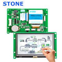 """Inteligentny panel dotykowy lcd 4.3 """"z Dirver + kontroler + Program obsługuje każdy mikrokontroler"""