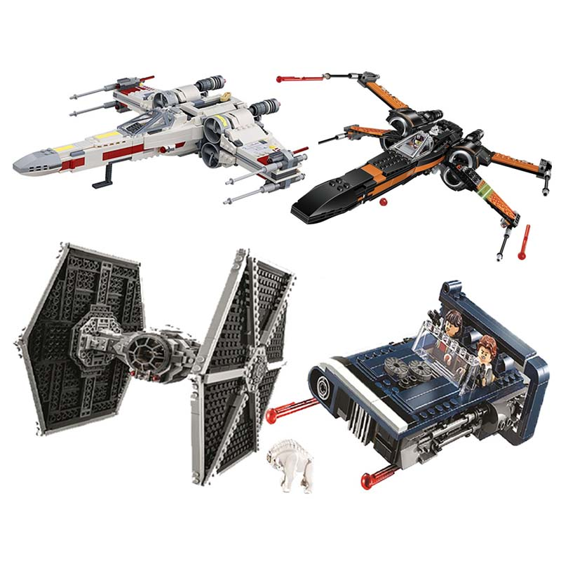 05145 Star Movie Wars X-wing Starfighters Compatible With Lepining 75218 Building Toys Blocks Bricks For Kids