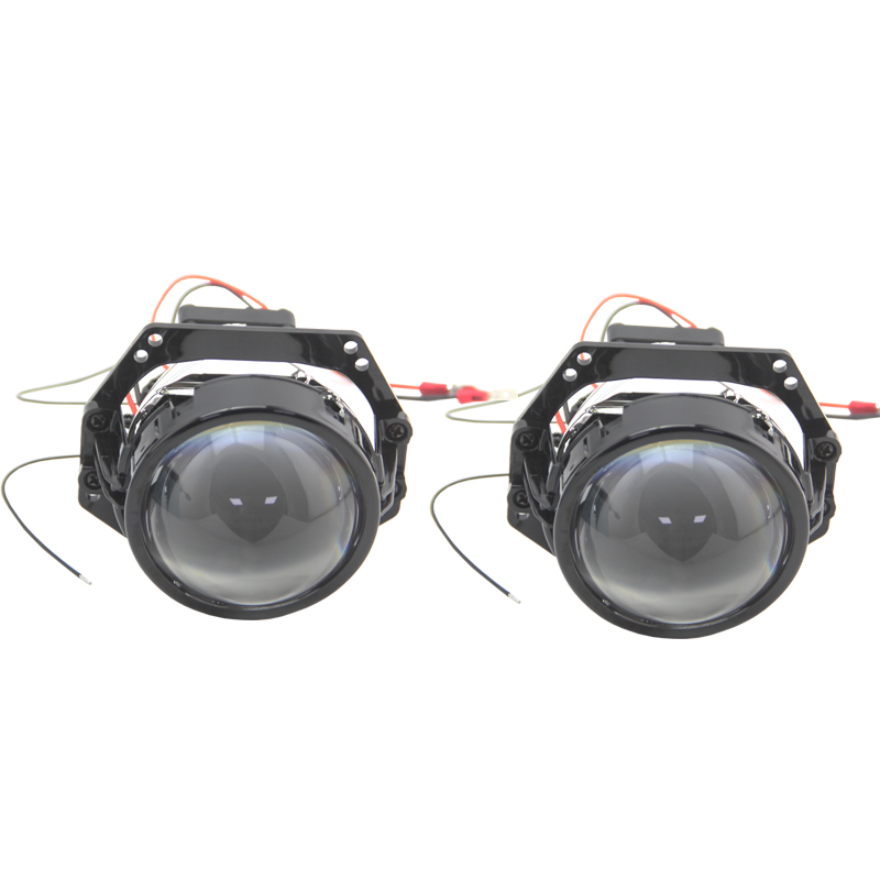 1 Pair 3.0 Inch RHD LHD Bi-Led Biled Bi Led Projector Lens 9-16V 34W 6000K 8000LM Drive In Design Intelligen Temperature Control