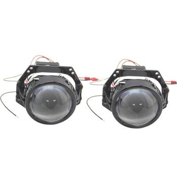 1 Pair 3.0 Inch RHD LHD Bi-Led Biled Bi Led Projector Lens 9-16V 34W 6000K 8000LM Drive in Design Intelligen Temperature Control optima premium biled lens professional series