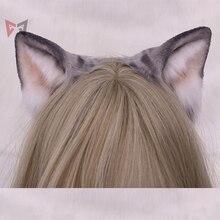 Diadema negra hecha a mano con orejas de gato, para cosplay, regalo de Navidad