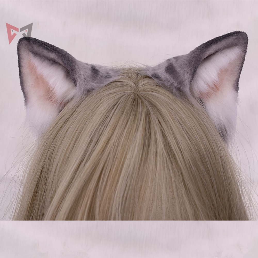 Feito sob Encomenda para Cosplay Presente de Natal Preto Novo Original Artesanal Americano Shorthair Orelha Hairhoop Besta Gato Adorável Headwear Dia