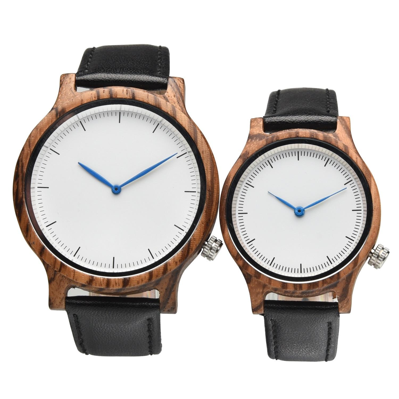 Masculinos de Madeira Relógios de Pulso Presentes para Aniversário Transporte da Gota Hofost Relógio Feminino Masculino Quartzo Relógios Casal