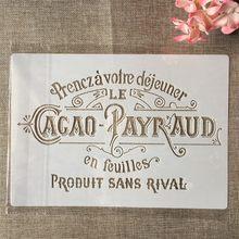 A4 29 centímetros Camadas de Palavras em Francês DIY Template Stencils Pintura Coloração Embossing Recados Álbum de fotos de Parede Decorativo