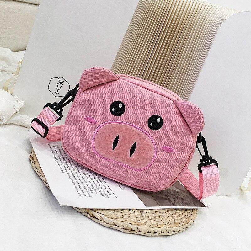 Cartoon Women Bag Animal Print Handbags Canvas Shoulder Messenger Small