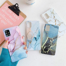 Luxury Marble Case For Samsung Galaxy S20 FE Note 20 Ultra A51 A71 S10 Note 10 Plus A50 A10 A20 S21 Silicone Shockproof Cover