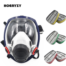 New Arrival Anti Gas Mask Chemical Industrial Painting Spraying Pesticides Respirator Filter Dust Full Face Mask Replace 3M 6800