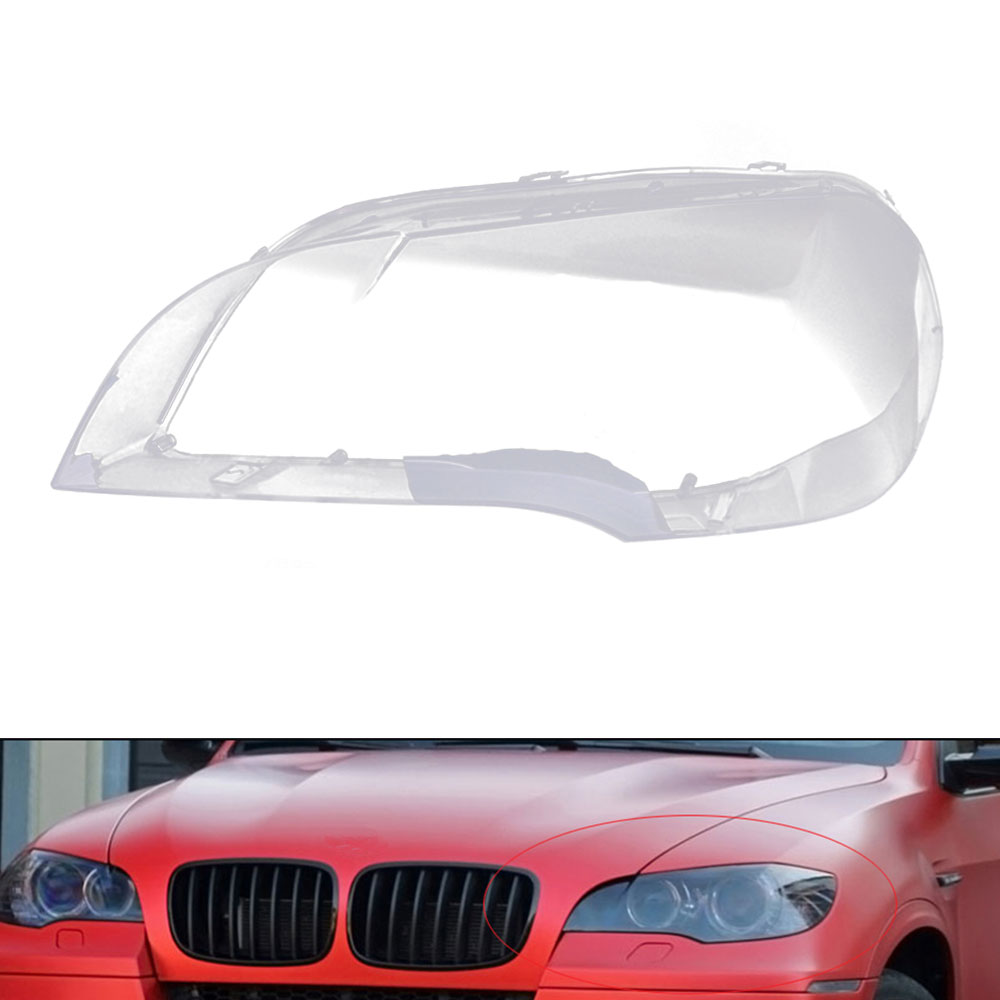 Car Clear Headlight Lens Cover Replacement For BMW X5 E70 2008-2013 Car Front Lamp Shell Cover