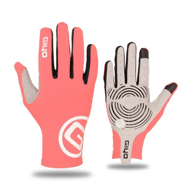 Giyo tela sensível ao toque longo dedos completos gel luvas de ciclismo esportes mtb bicicleta de estrada equitação luvas de corrida 3