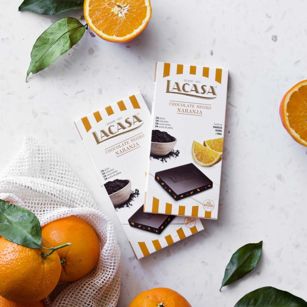 3 tablets black Chocolate with orange · 100g.