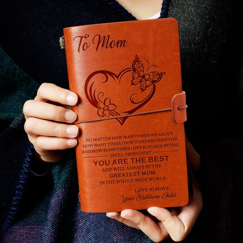 20x12cm Engraved Leather Journal Notebook Diary To My Mom You Best Love Daughter Son Child Anniversary Birthday Graduation