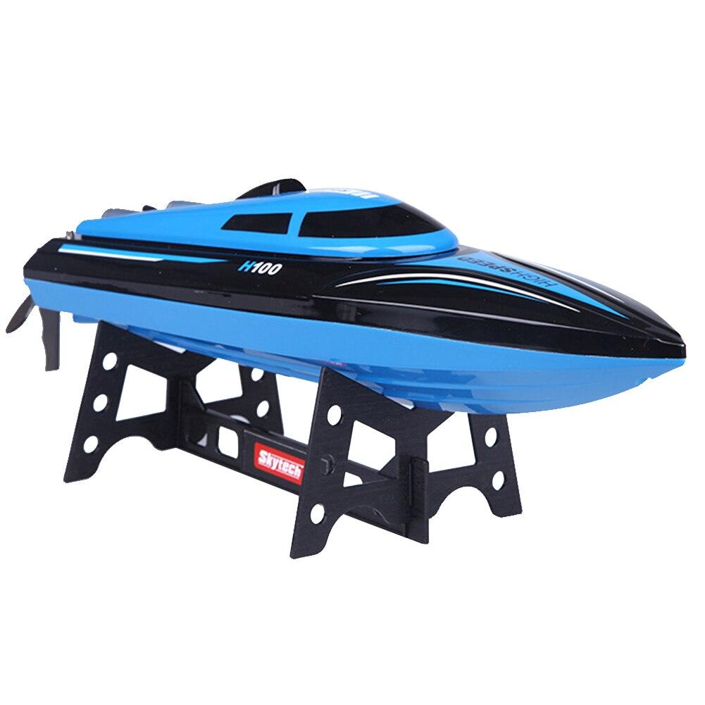 H100 hors-bord forme Mini opération facile jouet électrique 4 canaux avec écran LCD RC bateau course cadeau haute vitesse Overwater ABS