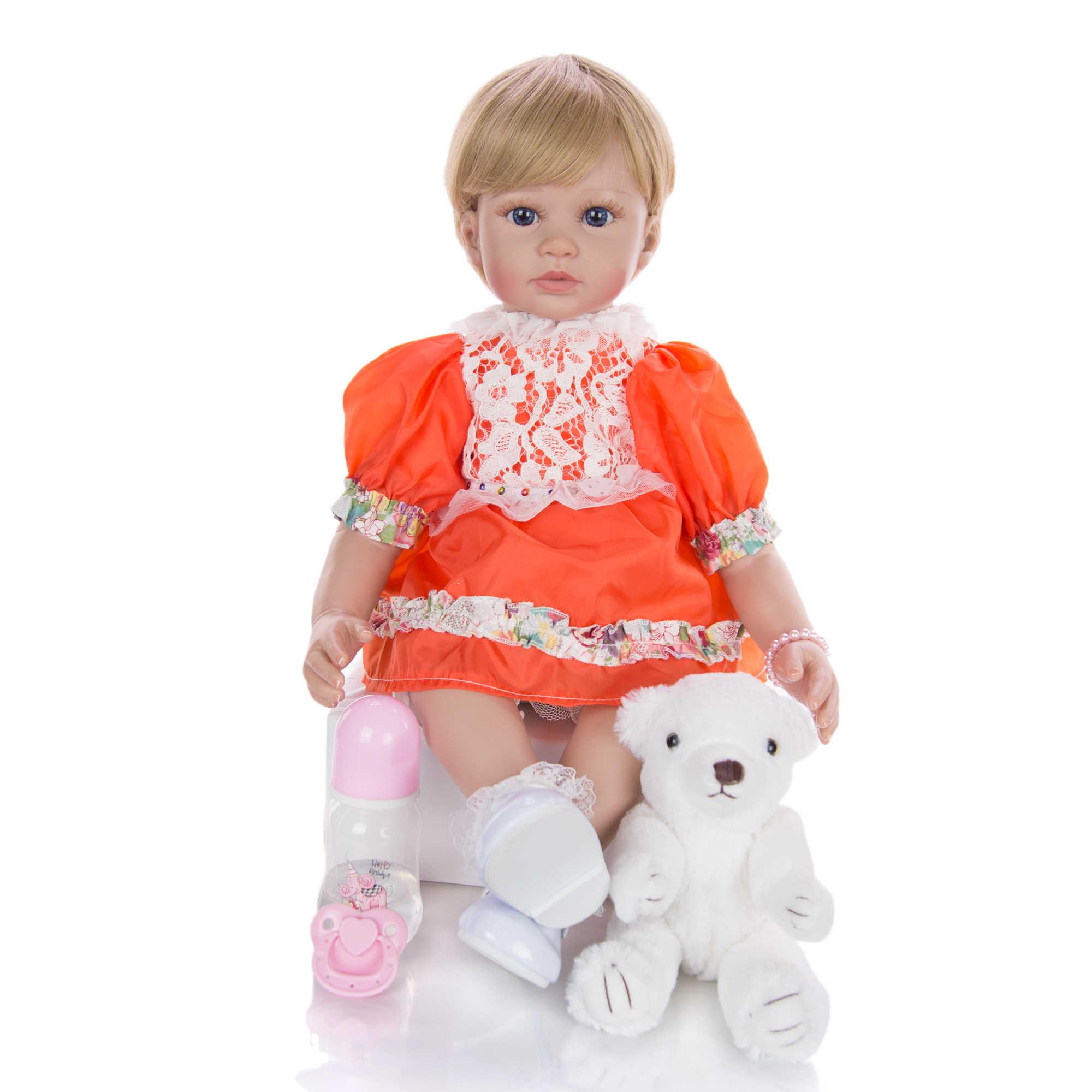 KEIUMI 60 سنتيمتر نابض بالحياة دمية تولد من جديد Bonecas PP القطن الجسم واقعية الوليد الأميرة الطفل دمى للأطفال هدايا عيد الميلاد