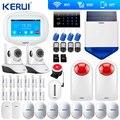 KERUI K52 WIFI GSM 警報システム ISO Android アプリのリモートコントロールホーム警報セキュリティソーラーサイレン RFID Wifi カメラ信号リピータ -
