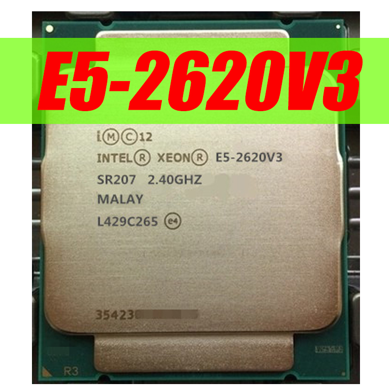 Intel Xeon E5 2620 V3 מעבד SR207 2.4Ghz 6 Core 85W Socket LGA 2011-3 מעבד E5 2620V3 X99 SR207 title=
