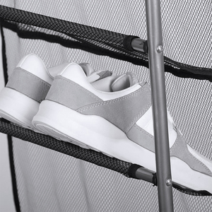 Image 5 - 1Pc פשוט מסדרון שטח חיסכון נעל מארגן חדש מעל את דלת נעלי קולב קיר ארון רב שכבות נעלי מדף ריהוט בית