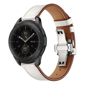 Image 5 - 20MM Replaceable Band for Garmin Vivoactive 3/Vivomove HR Bracelet Leather Strap for Samsung Galaxy Watch 3 41mm/42mm/Active 2 1