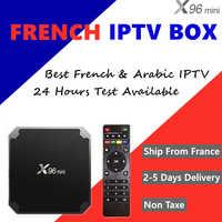 French IPTV Box X96mini Andorid Smart Tv Box With French Arabic Iptv