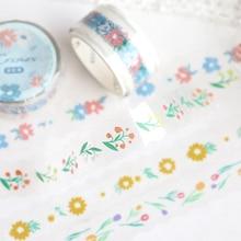 12PCS/LOT between the flowers series sticker DIY sticker decorative tape PET tape