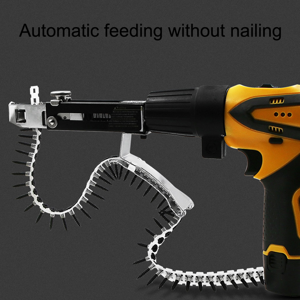Automatic Chain Nail Gun Adapter Screw Nail  With 50pcs Screws For Chain Nail Gun Woodworking Power Tool Parts Drill Attachment