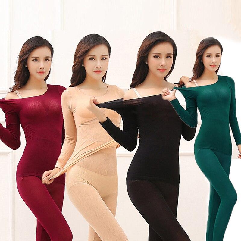 Women Sexy Warm Long Johns For Women Seamless Winter Thermal Underwear Set Warm Thermos Clothing Women/Men