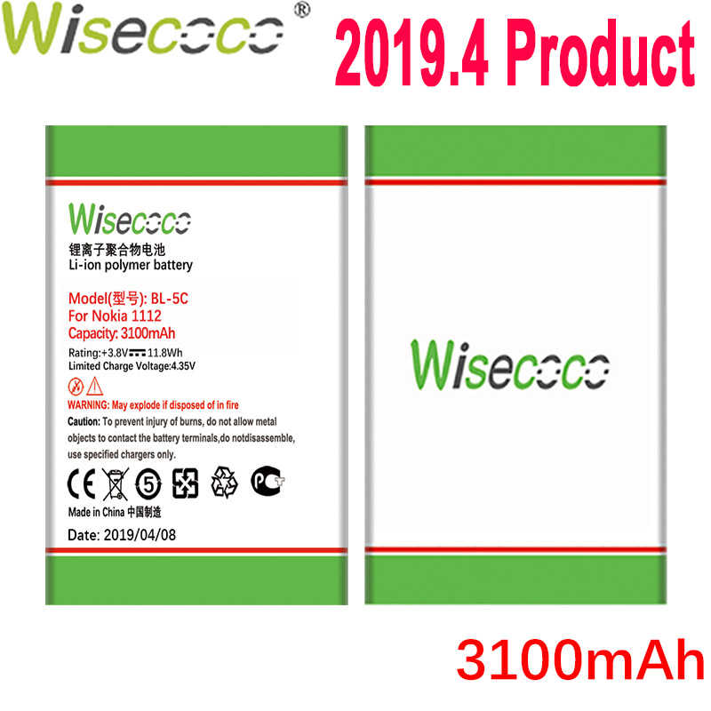 WISECOCO BL-5C Battery For Nokia 1100/ 1108/ 1110/ 1112/ 1116/ 1200/ 1208/ 1209/ 1255/ 1315/ 1508/ 1600/ 1650/ 1680C/ 1682C