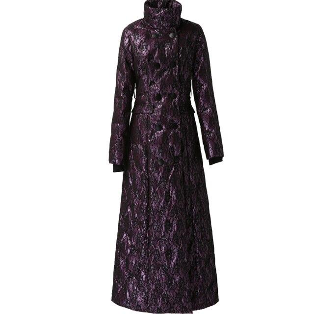Violet long vers le bas femmes 2019 hiver nouveau mince blanc canard vers le bas épaissi chaud mode manteau 6014