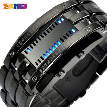 SKMEI Montre Homme Creative Design Men Digital Watch Stainless Steel Strap Waterproof Male Wristwatch Clock Relógio de homem(China)