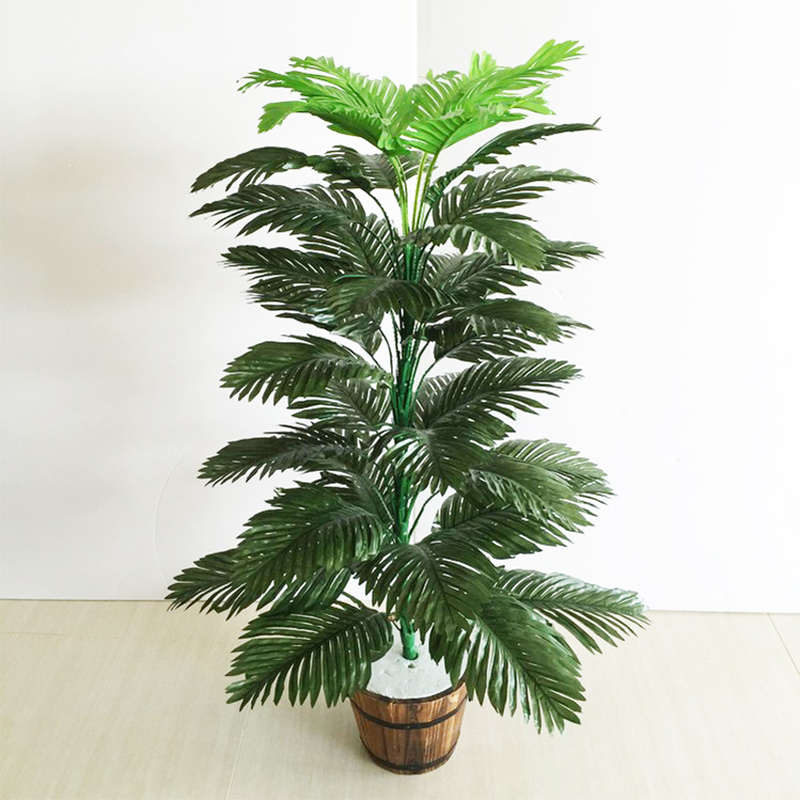90cm 39 Leaves Tropical Tree Large Artificial Plam Plants Fake Monstera Branch Silk Palm Leafs Without Pot For Home Garden Decor-0