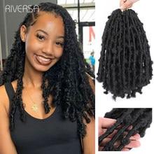 Nuovi stili capelli all'uncinetto Distressed Butterfly Locs intrecciare i capelli per le donne nere afroamericano Bob Butterfly ricci Faux Locs