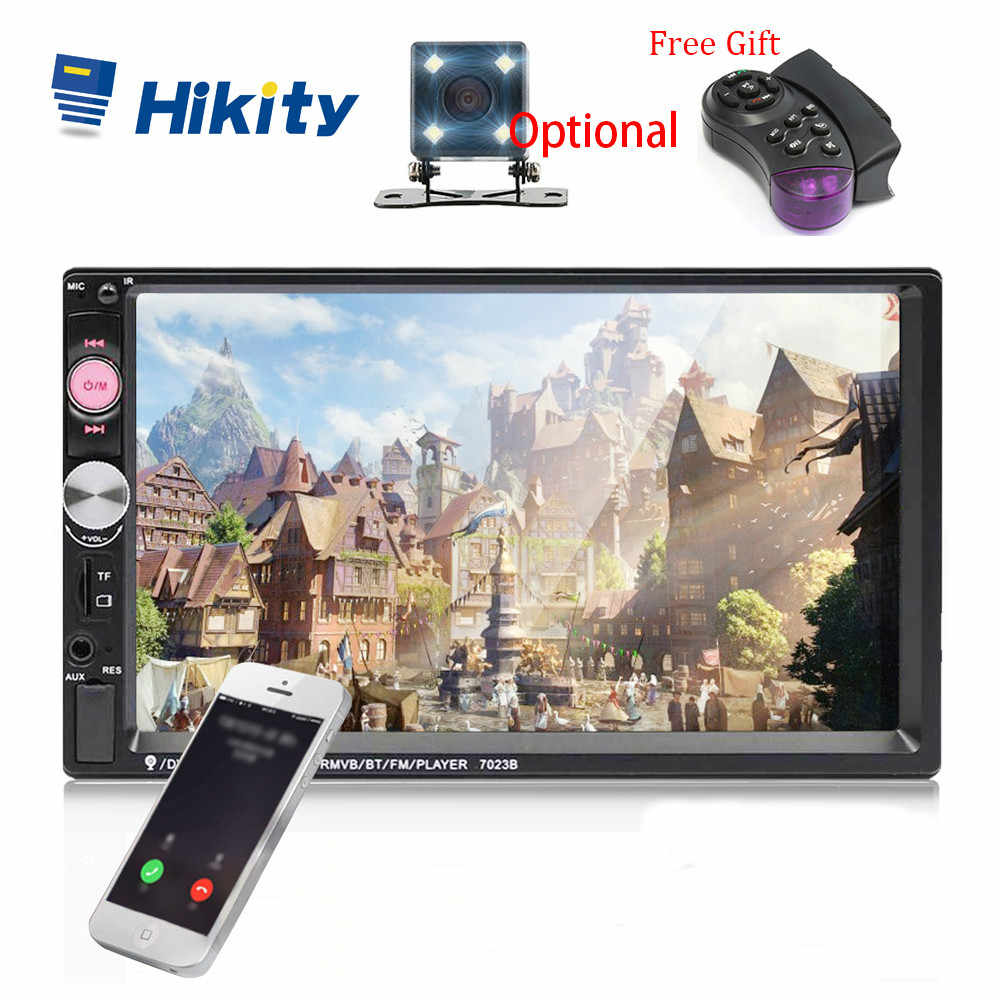 "Hikity Universele 7023B Auto Multimedia Speler Autoradio 2din Stereo 7 ""Touch Screen Video MP5 Speler Auto Radio Backup Camera"