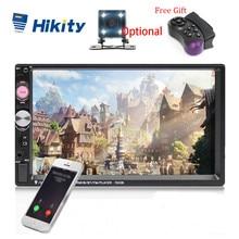 "Hikity reproductor Multimedia Universal 7023B para coche, autorradio 2din estéreo, pantalla táctil de 7 "", reproductor MP5, cámara de respaldo de Radio automática"